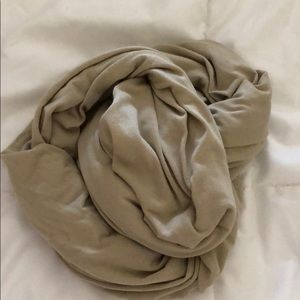 classic taupe infinity scarf